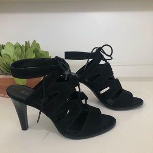 Simply Vera, Vera Wang Vegan Suede Caged Sandals